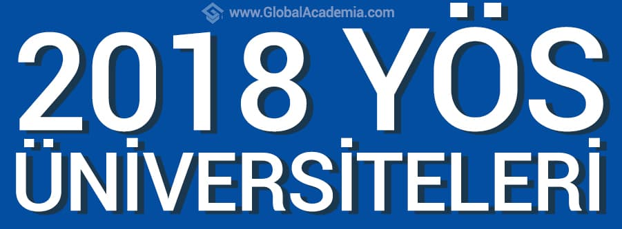 2018 YÖS Kabul Eden Üniversiteler